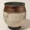 Pot with white raku glaze
