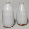 Two white narrow-necked vases (21JA14, 20NV05)
