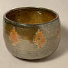 Shino-glazed bowl with stamped decoration