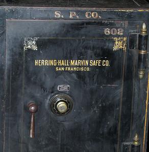Closeup shows safe detail.