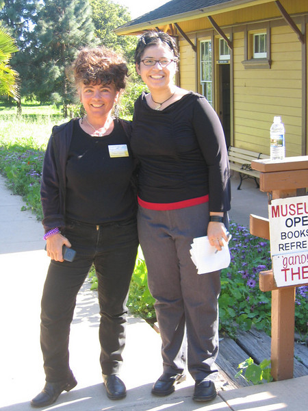 Thea Cremers and museum intern and event organizer Samantha Escobar