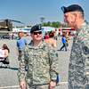 19 MAR 2011 - MCoE Fort Benning Commanding General MG Robert Brown and MCoE CSM Chris Hardy at the Thunder in the Valley Airshow, Columbus, GA.  Photo by John D. Helms - john.d.helms@us.army.mil
