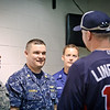 30 MAY 2011 (ATLANTA, GEORGIA) - MCoE commanding general, MG Brown, throws out first pitch at the Memorial Day Braves game vs. the San Diego Padres. Photo by Kristian Ogden.