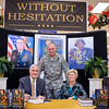 "01 DEC 2010 - GEN(R) Shelton (former Chairman of the Joint Chiefs of Staff) signs copies of his book ""Without Hesitation"" at the Main PX and MCoE Commanding General MG Brown stops by to get his copy signed.  Fort Benning, GA.  Photo by John D. Helms - john.d.helms@us.army.mil"