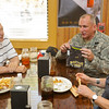 16 APR 2011 - Day two of the Best Ranger Competition, Ranger Burgers for lunch at Four Winds near Fort Benning, GA with MCoE Commanding General, MG Robert Brown, LTG(R) David E. Grange Jr., and Congressman Westmoreland.  Photo by John D. Helms - john.d.helms@us.army.mil