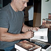 2011-05-21 Main Post Exchange. Sebastian Junger, co-director of Restrepo and New York Times Bestselling Author of The Perfect Storm and A Death in Belmont, signs copies of his latest book, War; a novel based on his embedded experience with the 173rd Airborne Brigade Combat Team in the Korengal Valley, Afghanistan. Fort Benning is Junger's first book signing at a military installation.  Photos by Susanna Avery-Lynch - susanna.lynch@us.army.mil