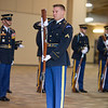 (Fort Benning, Ga.) Members of the Old Guard's, Army Drill Team, perform during the Infantry OSUT graduation ceremony for the 198th Infantry Brigade, February 7, 2014 at Freedom Hall. (Photo by James R. Dillard / MCoE Photographer)