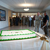 (Fort Benning Ga) Soldiers and civilians gather for the Army birthday cake cutting, June 14, 2014 in McGinnis-Wickam Hall. Maj. Gen. H.R. McMaster gave remarks. (Photos by: Patrick A. Albright/MCoE PAO Photographer)