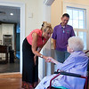 Caroline Mitchell Howard, 107-year-old, meets with MG Wesley and his family at Riverside.
