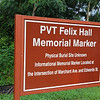 Pvt. Felix Hall Historical Marker Unveiling