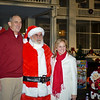 09 DEC 2010 - Santa at Riverside with MCoE Commanding General MG Brown.  Photo by Stephanie Owens.