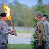 27 MAR 2011 - 2-46 IN, 192d BDE Torchlight Ceremony.  46th<br /> Infantry Regiment memorial grove on Sand Hill, MCoE, Fort Benning, GA.  Photo by John D. Helms - john.d.helms@us.army.mil
