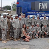 (FORT BENNING, Ga) Soldiers assigned to the 3rd Armored Brigade Combat team and 14th Combat Support Hospital attend the Atlanta Braves Baseball Game for the Annual Tribute to the Troops, June 29, 2013 at Turner Stadium. (Photo by Ashley Cross/MCoE PAO Photographer)