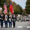 (FORT BENNING, Ga) Col. Leopoldo A. Quintas, Maneuver Center of Excellence United States Armor School Commandant, rides in the annual Veterans Day Parade, November 09, 2013 in downtown Columbus. (Photo by Ashley Cross/MCoE PAO Photographer)