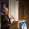Colonel Andrew Hilmes addresses the Columbus Rotary Club
