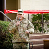 (FORT BENNING, Ga) Colonel Andrew C. Hilmes addresses a crowd of soldiers and civilians during the Tax Center Grand Opening, January 27, 2017 on Fort Benning. The Tax Center hours of operation will be Monday, Tuesday, Thursday, and Friday from 0900-1700 and Wednesday from 1100-1900. (Photos by: Patrick A. Albright/MCoE PAO Photographer)