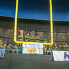 (Columbus, Ga) – The Columbus Lions Indoor Football team hosts a military appreciation night, May 11, 2019 at the Columbus Civic Center. Soldiers watched the Lions battle the Massachusetts Pirates.  Colonel Clinton W. Cox, Garrison Commander, Maneuver Center of Excellence and Command Sgt. Maj. Connie L Rounds Garrison Command Sergeant Major, Maneuver Center of Excellence were in attendance. (U.S. Army photo by Patrick Albright, Maneuver Center of Excellence, Fort Benning Public Affairs)