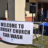 MWR celebrated the grand opening of the Harmony Church car wash on Jamestown Road Nov 18. The facility, Building 4101, has a drive through and four self-serve bays, one large enough for a truck or RV. This facility recycles water and offers free air and water. It is located next to the post's third Java Café, expected to open next summer. Photos by Bridgett Sharp Siter for MWR.