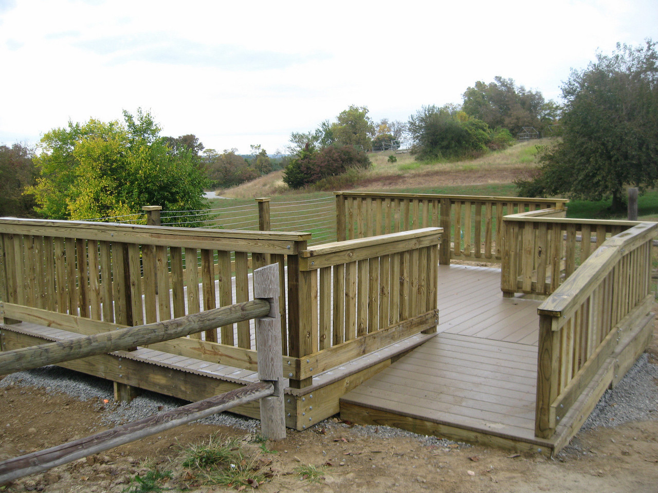Completed deck with ramp