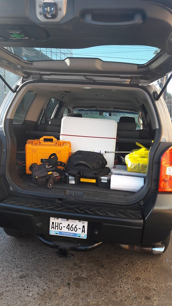 My SUV loaded and ready to go.