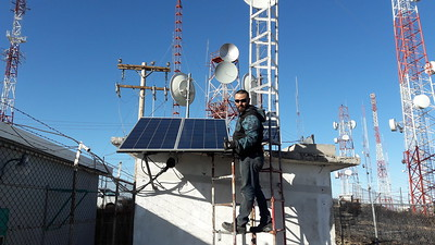 Ricardo and his finished 300 watts of solar.