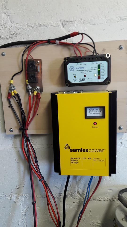 Power center, Solar control, smart changer, 60 amp DC relay