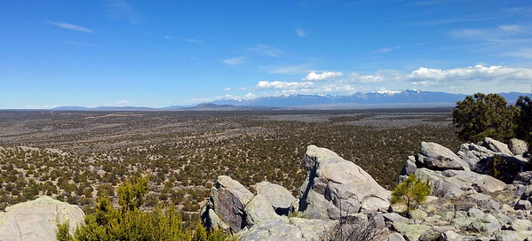 Looking towards Taos and points North.