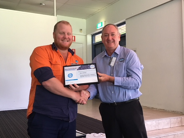 Steven Halliday, Redland City Council  with George Wall, WIOA