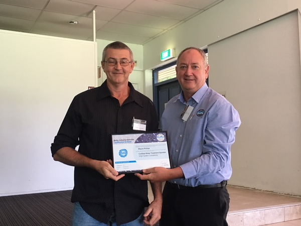 Wayne Philips, Whitsunday Regional Council with George Wall, WIOA