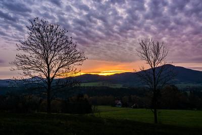 Východ slunce nad Studencem