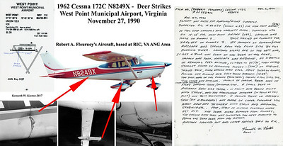 Cessna 172 N8249X West Point Deer Accident collage 001ABCD copy