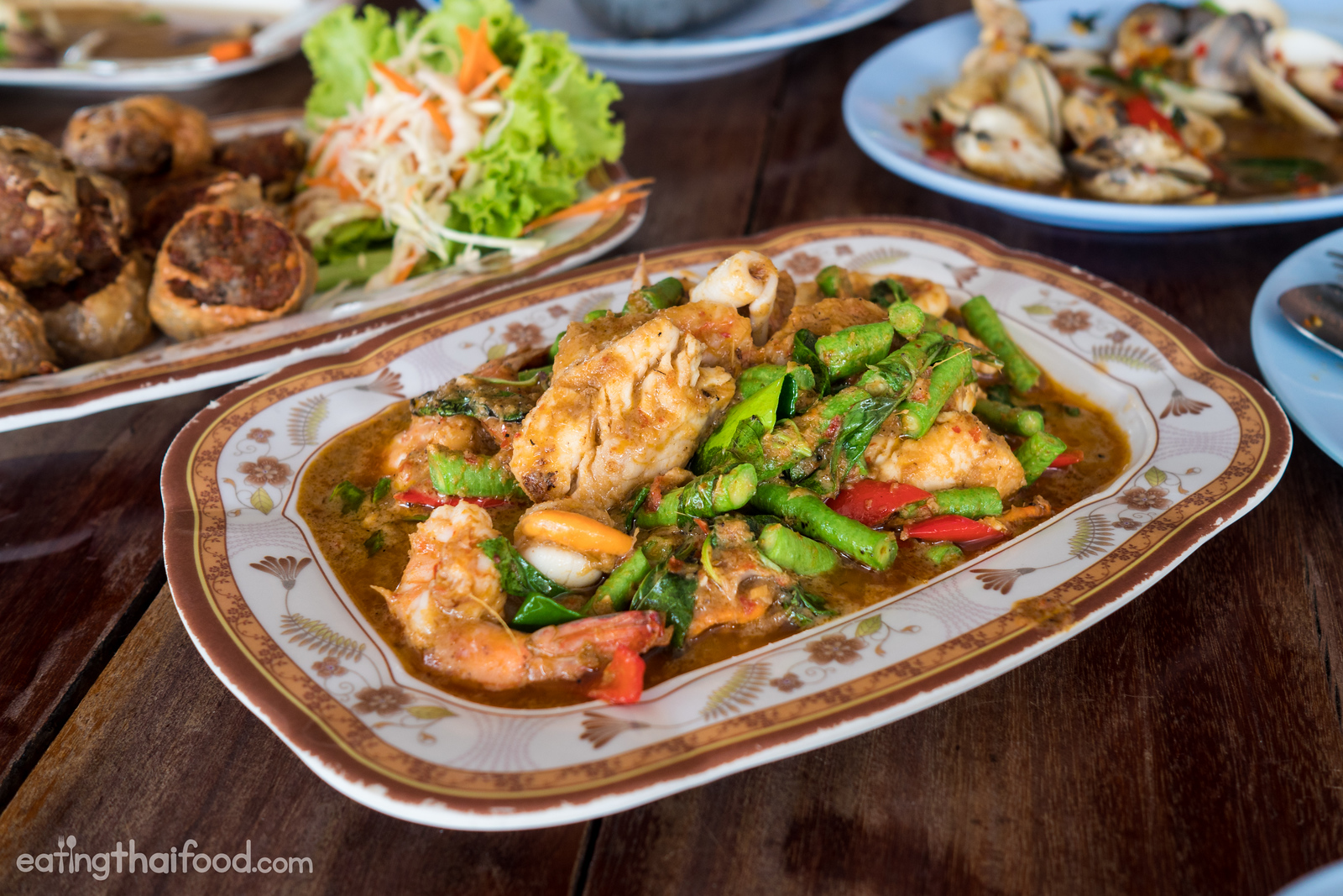 Thai seafood dishes