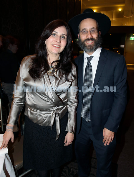 Chabad North Shore's Gala Dinner. Shoshy & Rabbi Zalman Kastel.