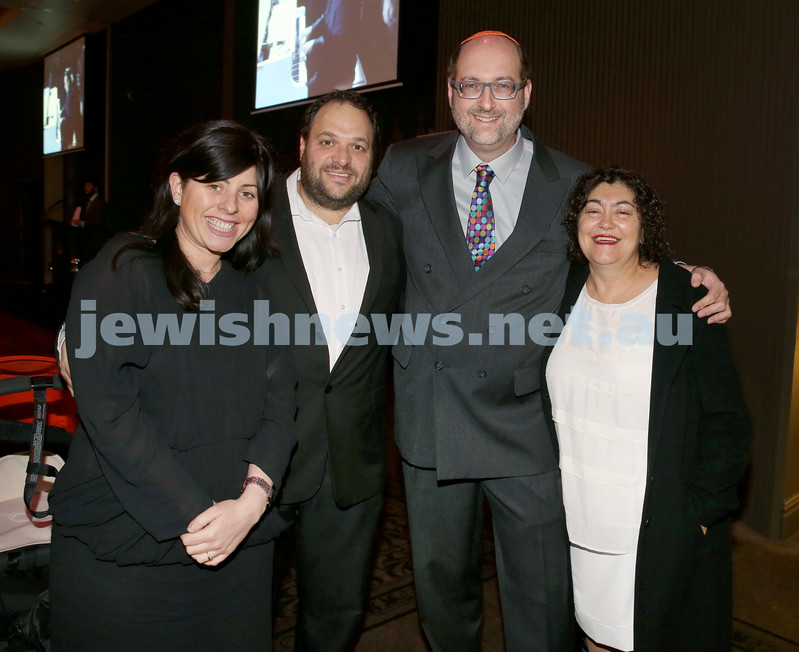 Chabad North Shore's Gala Dinner. Cassy Nathan, Greg Nathan, Barry Rubenstein, Dr. Michelle Brener.