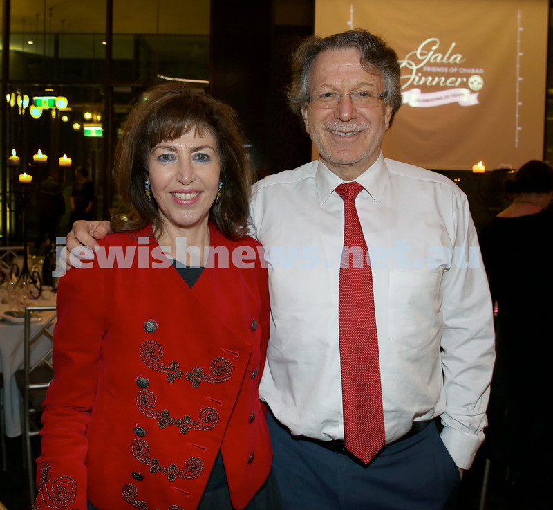 Chabad North Shore's Gala Dinner. Renee & David Zwi.
