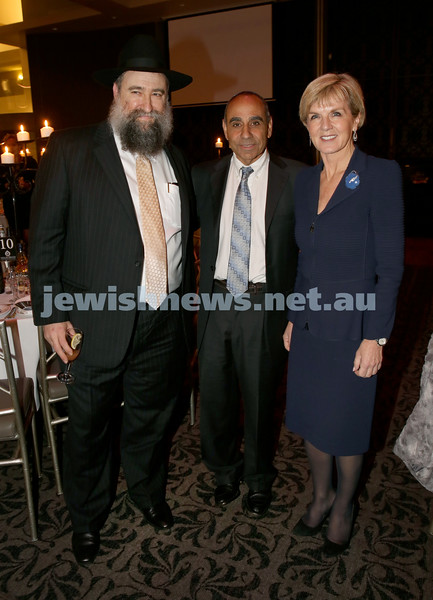 Chabad North Shore's Gala Dinner. Rabbi Nochum Schapiro, Sassy Reuven, Julie Bishop MP.