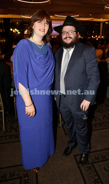 Chabad North Shore's Gala Dinner. Sarah Chana & Chanoch Sufrin.