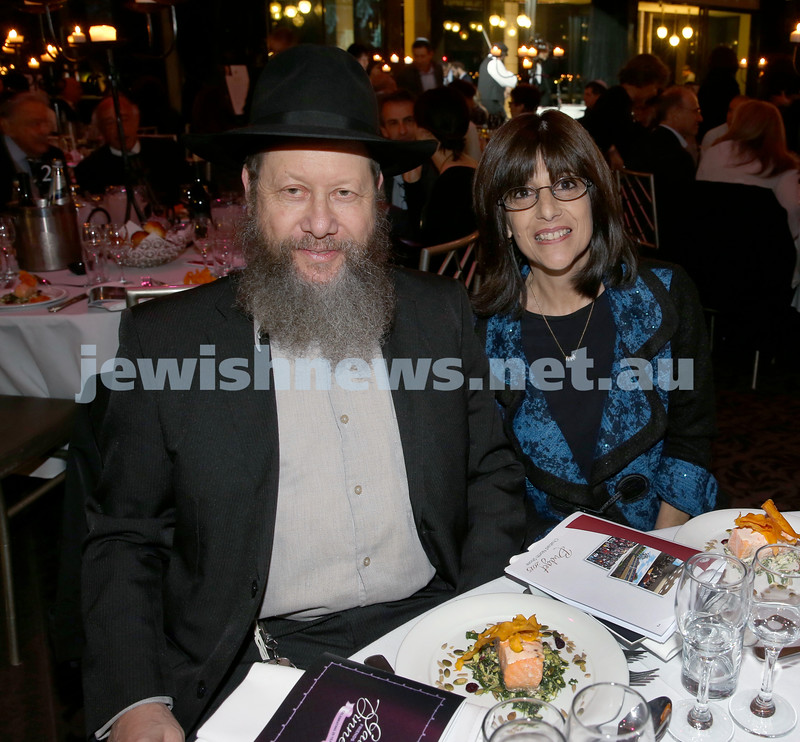 Chabad North Shore's Gala Dinner. Zev & Ilana Gavson.