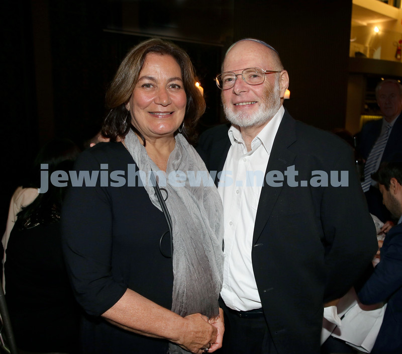 Chabad North Shore's Gala Dinner. Zara & Hedley Gordon.