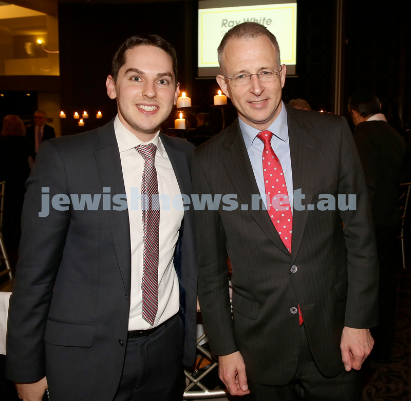 Chabad North Shore's Gala Dinner. Cr David Ossip & Paul Fletcher MP.