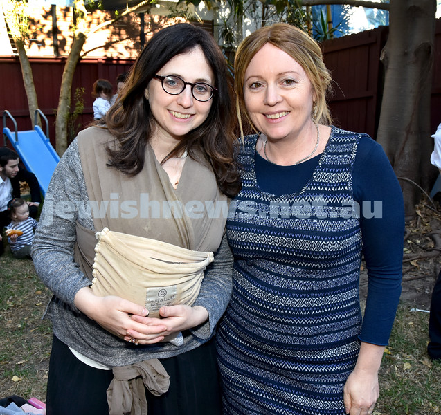 Pre Rosh Hashana event at Rose Bay Chabad. Nechama Dina Moss (left), Keshet Kessel. Pic Noel Kessel