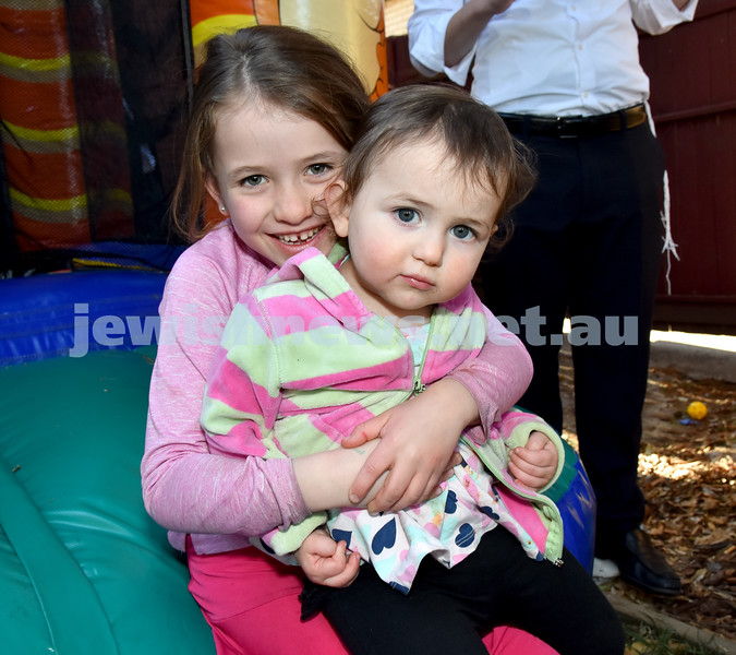 Pre Rosh Hashana event at Rose Bay Chabad. Golda and Rivka Moss. Pic Noel Kessel