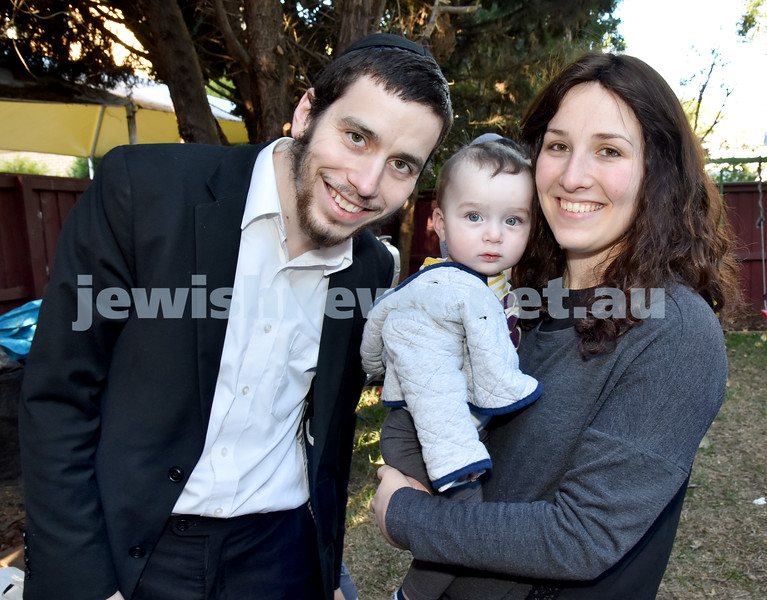 Pre Rosh Hashana event at Rose Bay Chabad. Rabbi Levi, Elimelech, Chaya Gourarie. Pic Noel Kessel
