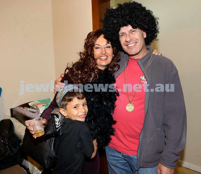 Chabad for Israeli Tourists, Purim Party. Pic Noel Kessel.