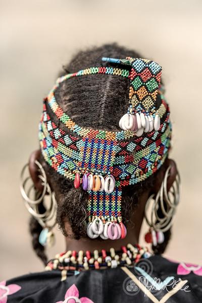 Beaded head attire