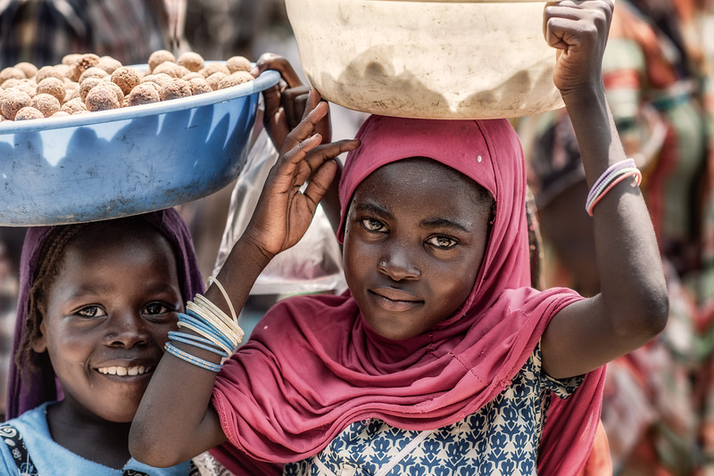 Fulani girls in the market place