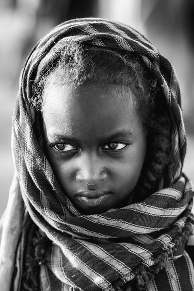 Wodaabe girl of the Fulani, Chad