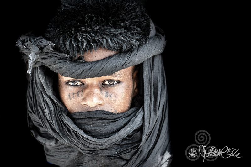 Young Wodaabe man attired