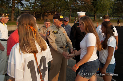 Flag Pole Dedication by VFW Post 12067 at Chagrin Falls High School Harris Stadium