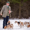 Carrie Garland — The News-Herald <br> Master of Beagles and Huntsman Mark McManus showcase the Chagrin Valley Beagles at Geauga Park District's Swine Creek Reservation in Middlefield Township on Feb. 5